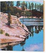 Rose Lake Sequel 2 Wood Print