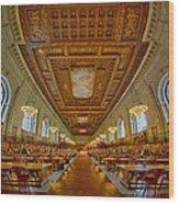 Rose Main Reading Room At The Nypl Wood Print
