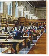Rose Main Reading Room New York Public Library Wood Print