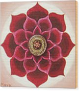 Rose Mandala Wood Print