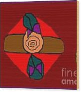 Rose Wood Print by Meenal C
