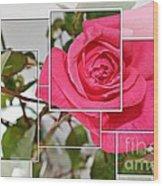 Rose Montage Wood Print