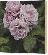 Rose Mosaic 1 Wood Print