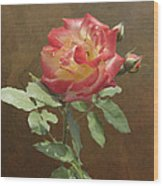 Rose On Thornridge Road Wood Print