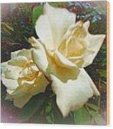 Rose Oval Wood Print