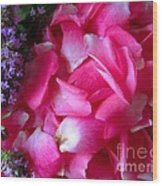 Rose Petals And Thyme Wood Print by Margaret Newcomb