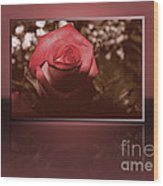 Rose Reflection 1 Wood Print