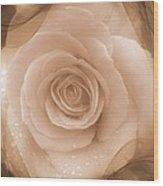 Rose Romance Wood Print