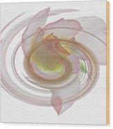 Rose Swirl Wood Print