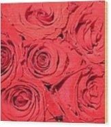 Rose Swirls Wood Print
