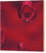 Rose Syrup Abstract 1 B Wood Print