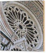 Rose Window Duomo Florence Wood Print