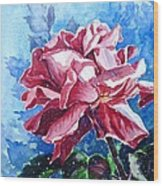 Rose Wood Print by Zaira Dzhaubaeva