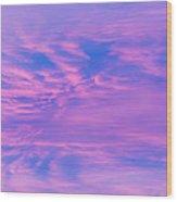 Roseate Hues Of Early Dawn Wood Print