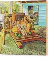 Rosebank Farm Cart Wood Print
