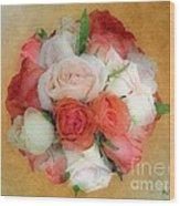 Roses Antiqua Wood Print