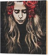 Roses Are Red Wood Print by Sheena Pike