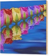 Roses Floating Wood Print by Tom Mc Nemar