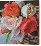 Roses Florentine Wood Print