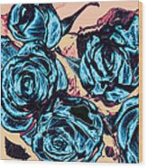 Roses For A Blue Lady  Wood Print