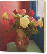 Roses For Sandra Wood Print