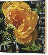Roses Have Thorns Wood Print