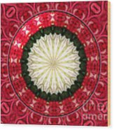 Roses Kaleidoscope Under Glass 19 Wood Print