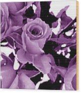 Roses - Lilac Wood Print