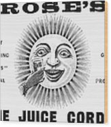 Roses Lime Juice Cordial Wood Print