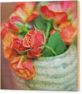 Roses Wood Print by Lisa Phillips