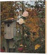 Roses Of Fall Wood Print