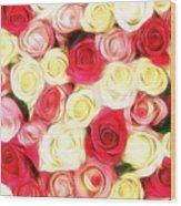 Roses Of Love Wood Print