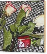 Roses From Rosa... Wood Print