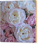 Roses On The Veranda Wood Print