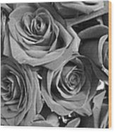 Roses On Your Wall Black And White  Wood Print