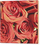 Roses On Your Wall Wood Print
