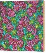 Roses Pattern Wood Print