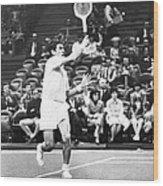 Rosewall Playing Tennis Wood Print