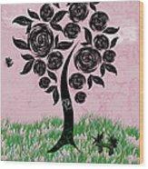 Rosey Posey Wood Print