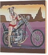 Rosie's Chopper Wood Print
