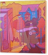 Roslindale Never Looked So Red Wood Print
