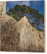 Ross Creek Cliffs Wood Print