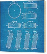 Ross Ice Hockey Puck Patent Art 1940 Blueprint Wood Print