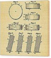 Ross Ice Hockey Puck Patent Art 1940 Wood Print