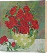 Rosses R Red Wood Print