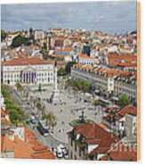 Rossio Square Wood Print
