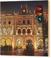 Rossio Train Station Wood Print
