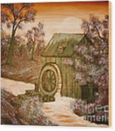 Ross's Watermill Wood Print