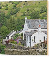 Rosthwaite In The Valley Of Borrowdale Lake District Wood Print