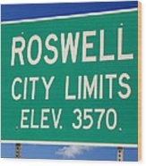 Roswell New Mexico Wood Print